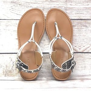 NEW Coach Clarkson Snake Flat Womens Sandals 7.5